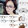 Moda Moldura Dos Vidros Ópticos Óculos Com Vidro Transparente Rodada Limpar Transparente das Mulheres Das Mulheres Dos Homens Do Vintage Óculos Quadros