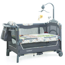 2019 Baby Bed Kid Cribs For Twins Babies Valdera EU Multifunctional Folding Baby Bed Brand Travel Trolley game bed Two-layer bed
