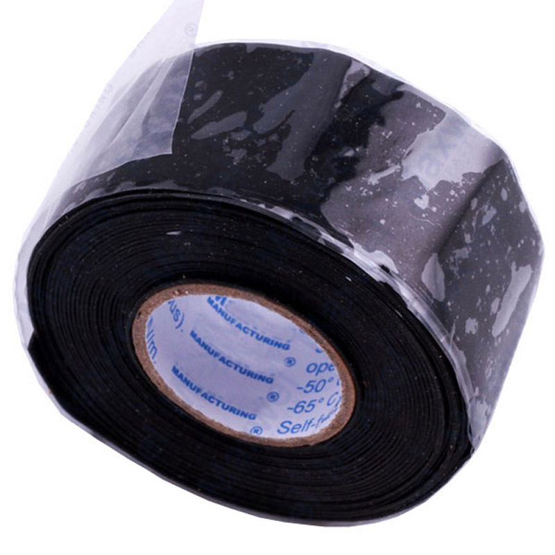 Handige Waterdichte Siliconen Reparatie Tape Bonding Rescue Zelf Fusing Slang Zwarte Tuin Waterleiding Connector 2