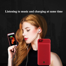 7000mAh battery Charging Case and Earphone Port For iphone 7 8 External Power Bank Back Cover Backup Charger Adapter With Audio