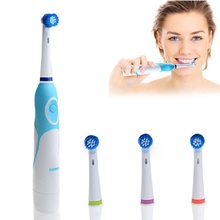 Fashion 2016 Battery Operated Electric Toothbrush with 4 Brush Heads Oral Hygiene Health Products No Rechargeable Tooth Brush