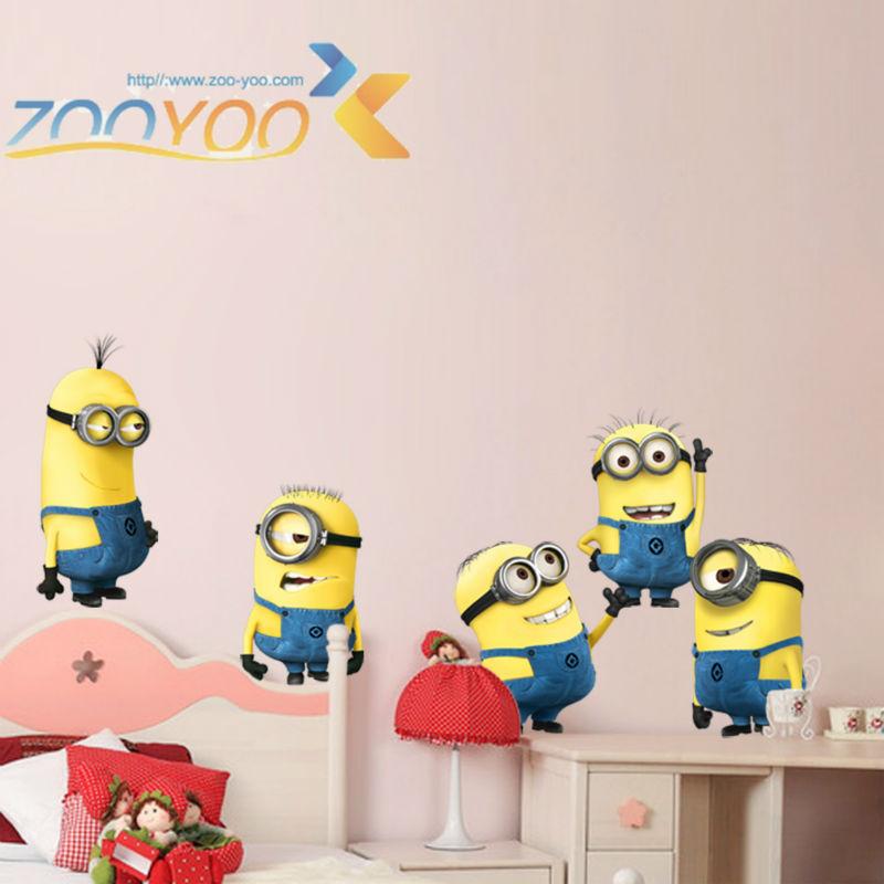 ngjitëset e murit të filmave të bukur të verdhë për fëmijë - Dekor në shtëpi - Foto 2