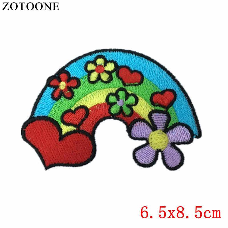 ZOTOONE ロゴアイアン上の文字スパンコール衣料用パッチ刺繍フェルトアップリケ旗バッジ Stickes 服 Pvc パッチ 1 個