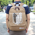 Ru y br attack on titan mochila escolar mochila hombros bolsa anime impresión mochila mujeres de los hombres mochila de viaje bolsa shingeki no kyojin