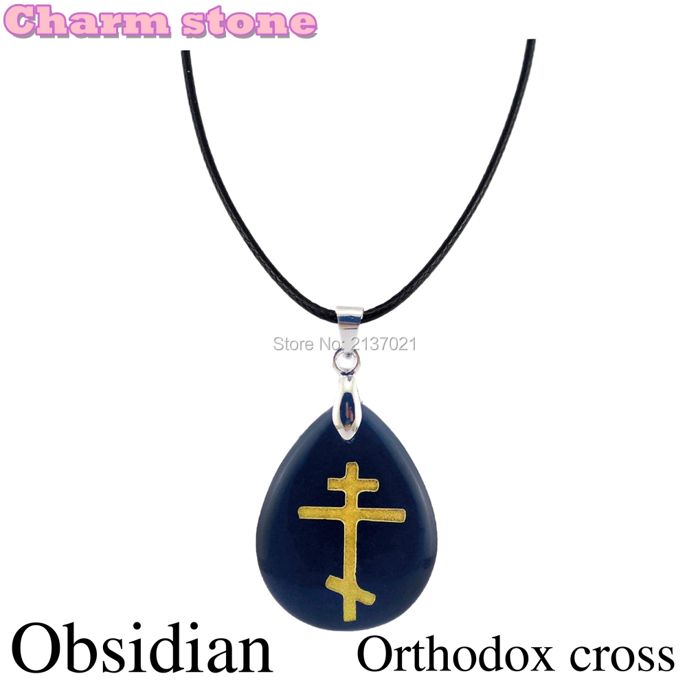 Online shop water drop pendant atural crystal obsidian necklace online shop water drop pendant atural crystal obsidian necklace western religions the orthodox eastern church jesus cross pendant aliexpress mobile buycottarizona