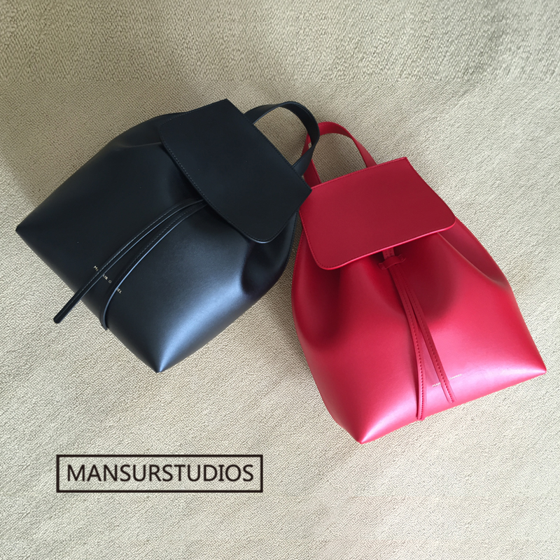 Image 3 - MANSURSTUDIOS  women leather backpack  mansur lady real  leather backpack, gavriel girl leather schoolbag.free shipping-in Backpacks from Luggage & Bags
