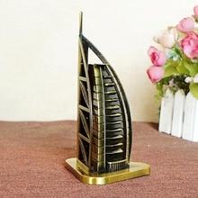 delicate classic collectible metal handicraft modern house decor Burj Al Arab model building toys for children