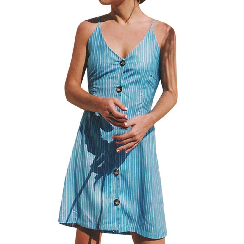 Sexy   Backless Polka Dots Print Beach Summer Dress Women 2019 Cotton Deep V Neck Buttons Red White Off Shoulder Midi Dresses