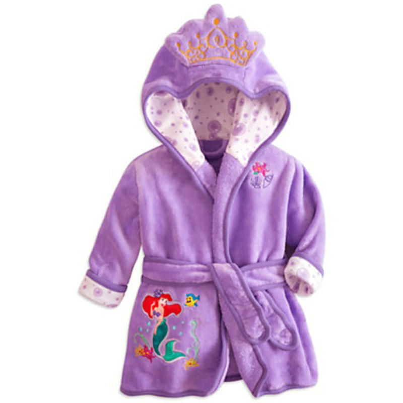 EOICIOI children s bathrobes for girls baby boy gown flannel nightgown kids winter sleepwear hooded robe
