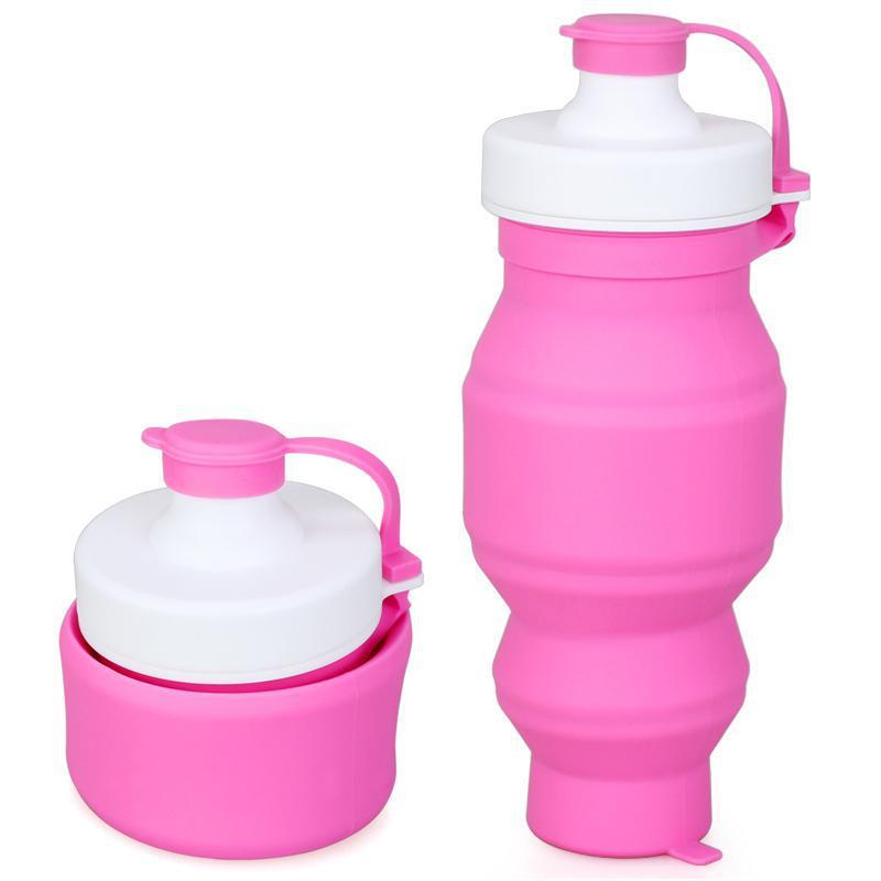 Recién Bpa Botella de Agua de Viaje Taza Plegable de Silicona Portátil Plegable