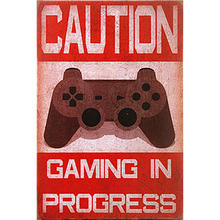 Game Retro Plaque Wall Decor for Bar Pub Kitchen Home Vintage Metal Poster Plate Signs Painting