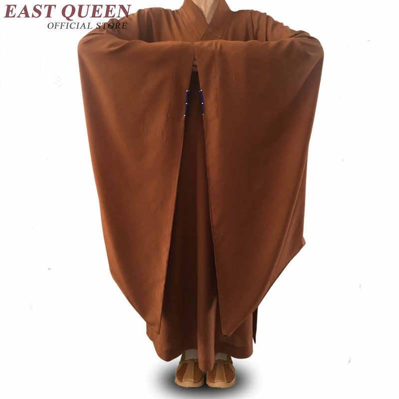 僧侶のローブ服衣装少林寺の僧の服僧侶服制服瞑想服 AA3903