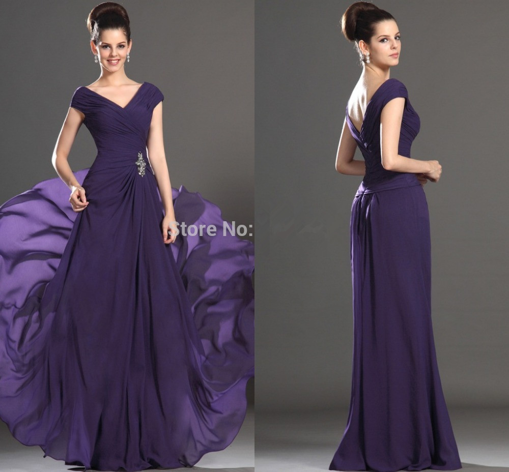 Plus size mother of the bride dresses purple floor length for Purple plus size dresses for weddings
