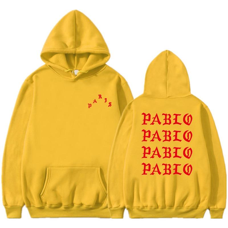 I Feel Like Pablo Red Letter Printing Men Hoodies Sweatshirts Hip Hop Men Women Streetwear Rapper Clothing  Fleece Pullover Tops