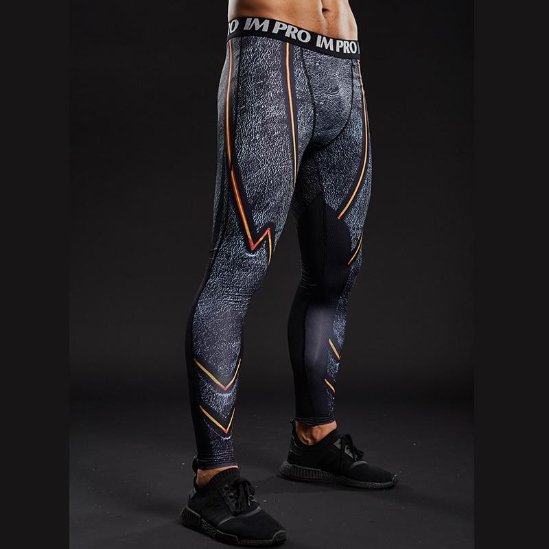Trousers Male Leggings Sweatpants Compression-Tights-Pants Comics-Pattern Printed Skinny