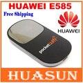 Desbloqueado huawei e585 3.5g 3g hsdpa hotspot móvel router bolso wifi modem oled tela frete grátis
