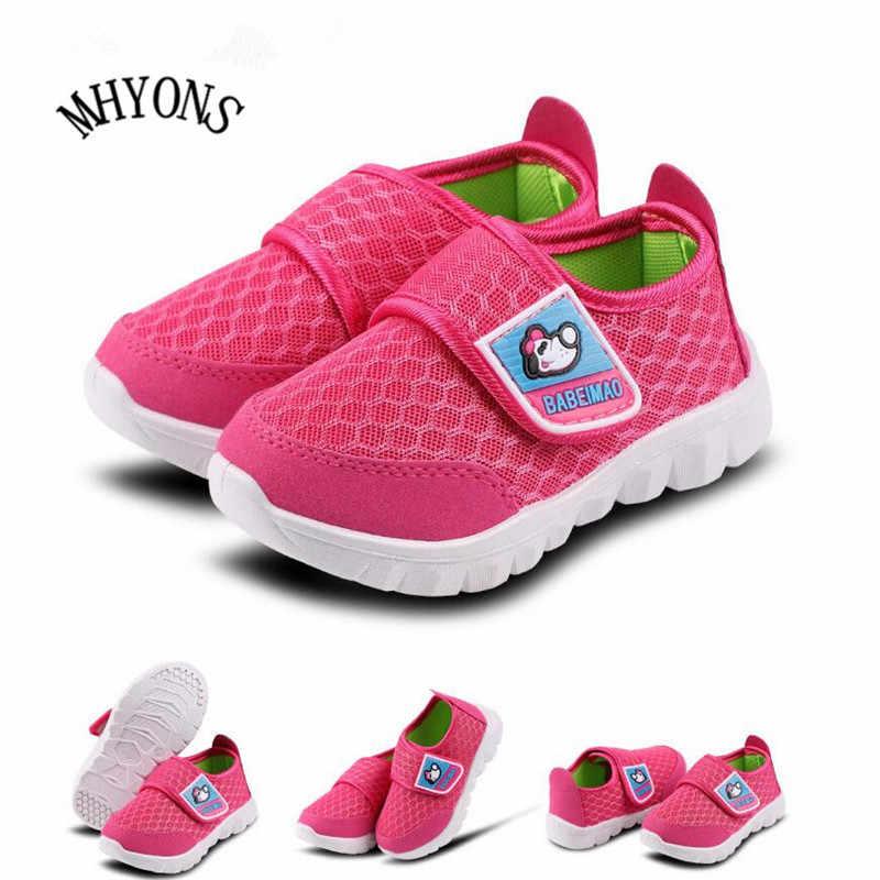 חם פס אופנה ילדי נעלי מזדמנים נעלי בד עבור בנות מאמן בני tenis ילדים אופנה דירות נוח תינוק נעל u