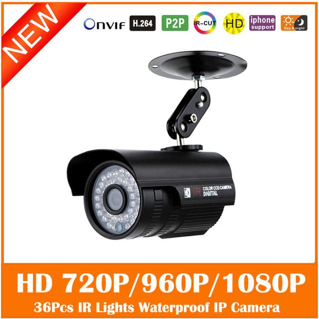 Hd 1080 p bala ip câmera de 2mp de metal ao ar livre luz à prova d' água mini infrared night vision motion detect webcam freeshipping quente