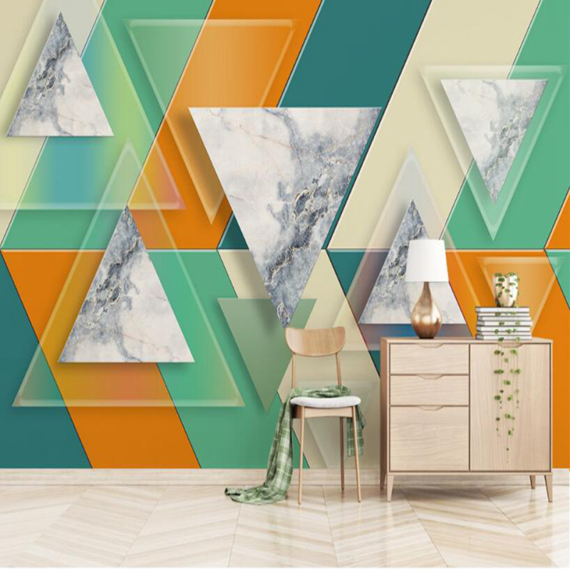 Custom Free Desktop 3d Photo Wallpaper Frose Home Geometry Hd Wall Murals Living Room Wall Furniture TV Sofa Background