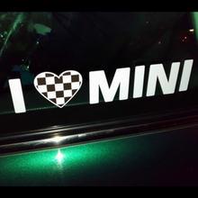 Виниловые наклейки и на окна i love mini для стайлинга автомобиля
