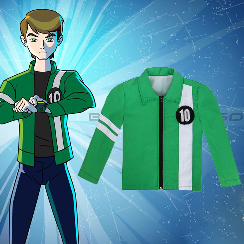 Ben 10 Jacket Aliens Force Boys Cosplay Benjamin Kirby Tennyson Ten Ben10: Race Against Time Clothing Kids Halloween Costumes