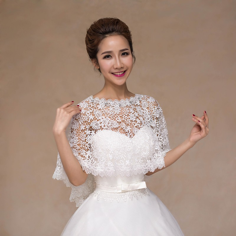 Wedding Bolero Jackets Bride Cover Up Women Shrug Hollow Lace Bridal Capes Accessories In Wrap From Weddings