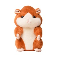 3 Colors Talking Hamster Plush Toy Hot Cute Speak Talking Sound Record Hamster Talking Toys For