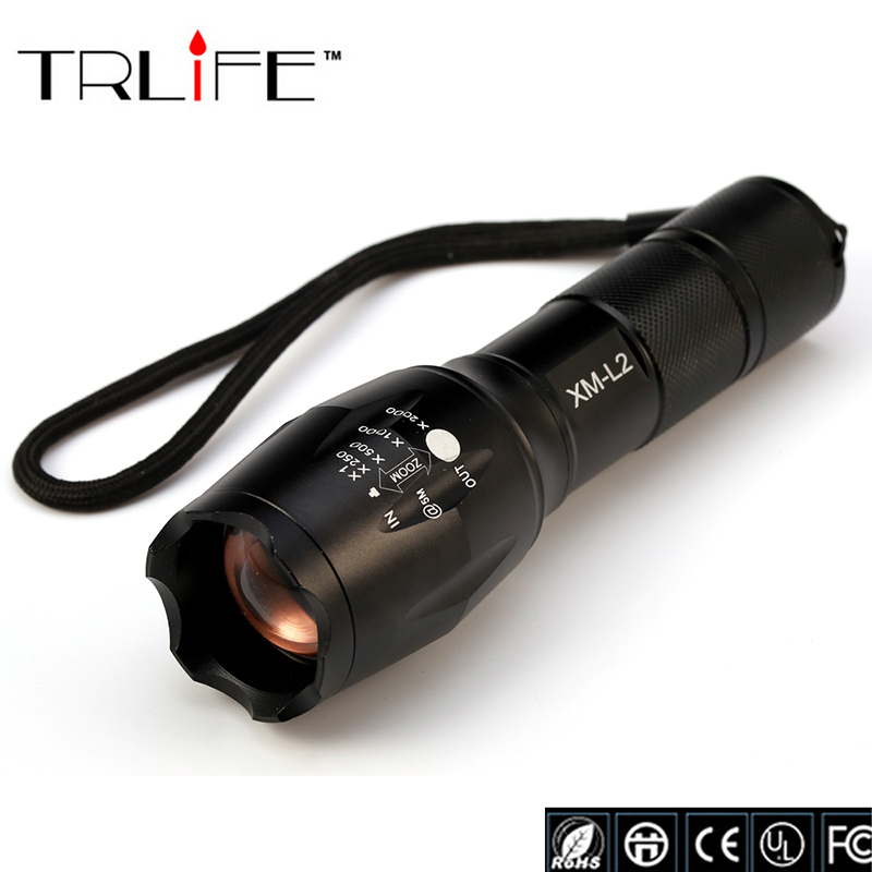 E17 LED CREE XM-L2 Flashlight 8000Lumens Torch Zoomable Tactical Flashlight Camping Light Lamp For 3xAAA or 1x18650 Battery lanterna cree xm l2 6000lm tactical flashlight torch zoomable led flashlight for 3xaaa or 1x 18650 rechargeable battery