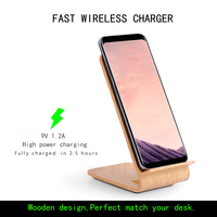10W Vertical Quick Charge Wireless Charger For Samsung Galaxy S6 Edge Note5 S7 S7 Edge S8