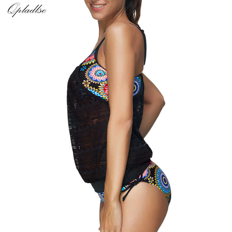 be240edcecf ... Bathers Plus Size Swimwear Female Sexy Two Pieces Indoor Swimsuit Women  Tankini Push Up May Beach ...