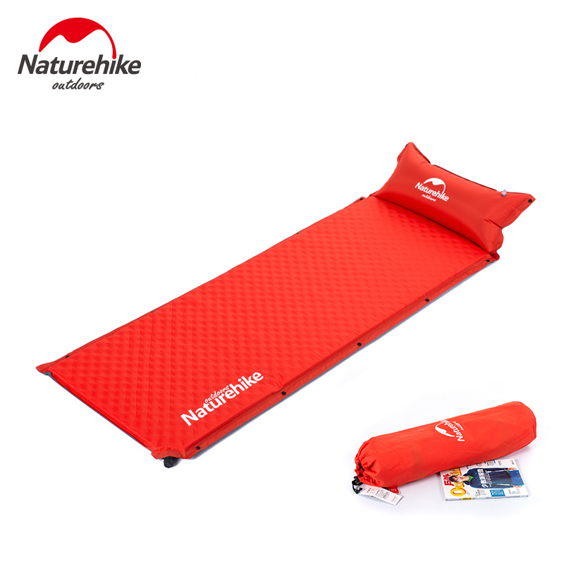 купить Wild Outdoor Naturehike Self-Inflating Sleeping Pad with Attached Pillow, Compact Lightweight Air Mattress for Camping Hiking по цене 3739.86 рублей