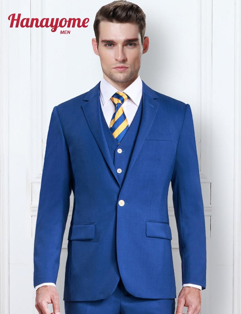 Hanayome Royal Blue 3 Pieces Suit For Men 2018 Formal Wedding Event ...