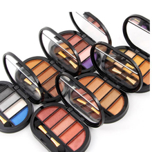 Professional Makeup Brand ShimmerMatte Eyeshadow Palette Glitter Eye Palette Maquiagem Matte Pigment Eye Shadow with Brush 6pcs