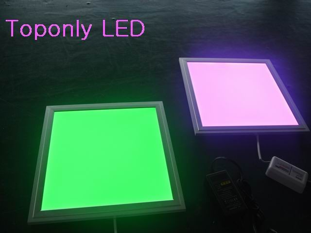 18w rgb led flat light with rf remote controller square. Black Bedroom Furniture Sets. Home Design Ideas