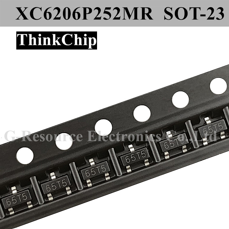 Free Shipping 100pcs/lot XC6206P252MR 2.5V SOT-23 Fixed LDO Voltage Regulator (Marking 65T5)