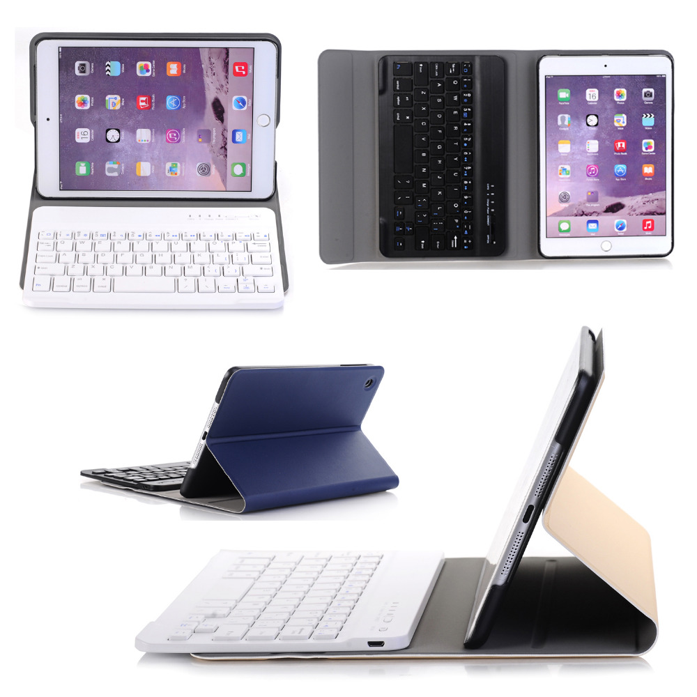 Russian/Hebrew/Spanish Removable Wireless Bluetooth Keyboard Stand PU Leather Case Cover For Apple iPad Mini 1 2 3 7.9 Tablet removable wireless bluetooth russian hebrew spanish keyboard stand pu leather case for samsung galaxy note 8 0 n5100 n5110