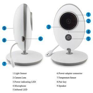 Image 5 - Taktark 2.4インチワイヤレスビデオベビーモニターカラーカメラインターホンナイトビジョン温度監視ベビーシッター乳母