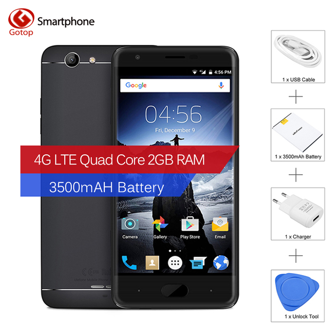 Original Ulefone u008 pro 5.0 Inch Smartphone Android 6.0 MT6737 Quad Core Mobile Phone 2GB RAM 16GB ROM 3500mAH 4G Cell Phone