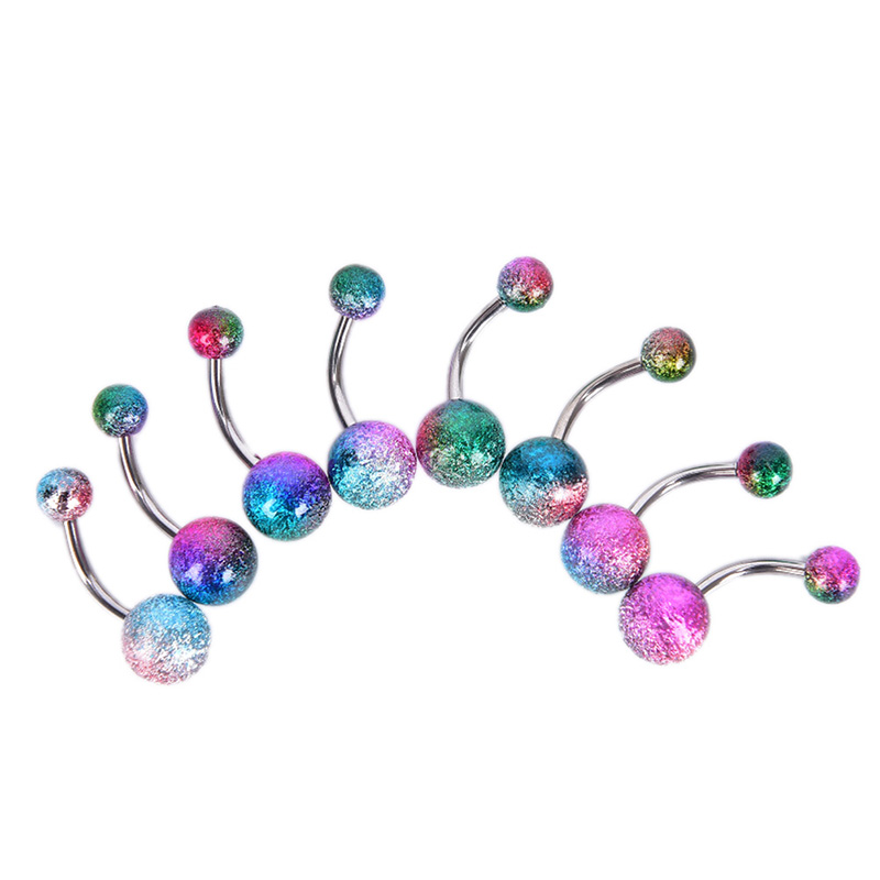 7/10/20pcs Fashion Colorful Belly Button Rings Navel Piercing Ear Piercing Navel Earring Belly Piercings Body Jewelry