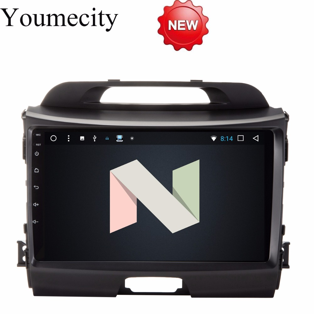 Youmecity Android 7.1 Octa Core Headunit lecteur DVD de Voiture pour KIA Sportage R 2014 2011 2012 2013 2015 Gps wifi Radio Bluetooth
