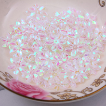 Fashion 500pcs 12mm cup six petals flower Transparent sequins Jewelry Accessories cloth crafts confetti clothing