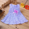 2016 spring and summer new European and American girls girls lace sleeveless dress 13 color options