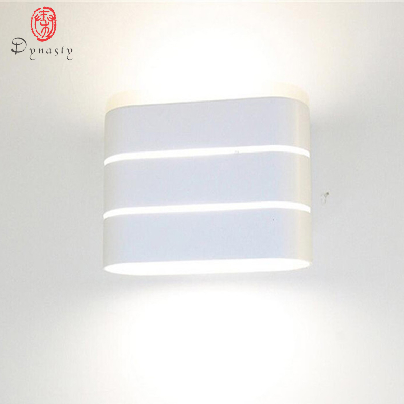 Dynasty Aluminum LED Wall lamps Fashion Simple Decoration Lighting Wall lights Kitchen Dining Room Bedroom Foyer Study Bathroom