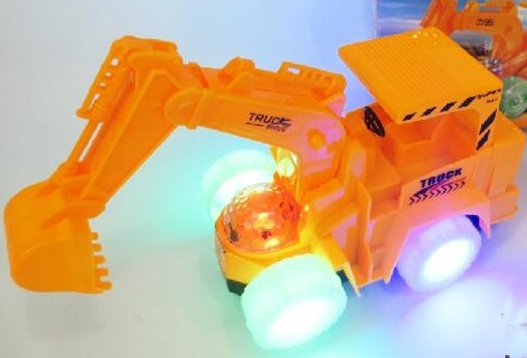 Electronic Educational Simulated Mini Electric Small Truck Excavator Light Music Universal Metal Interesting Toys For Children image