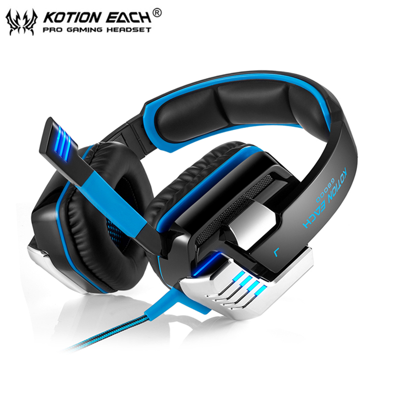 Best Computer Stereo Gaming Headset Kotion EACH G8000 casque Deep Bass Game Earphone Headphone with Mic LED Light for PC Gamer each g1100 shake e sports gaming mic led light headset headphone casque with 7 1 heavy bass surround sound for pc gamer