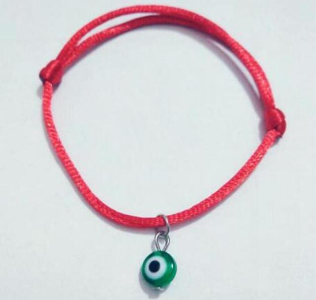Fashion Good Luck Green Evil Eye Red String Kabbalah Bracelet Lucky Charm Protection