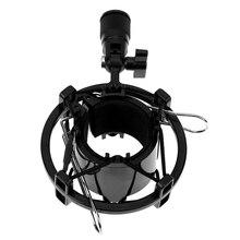 Nueva montura antichoque para micrófono Cunas clip soporte F/diámetro 43mm-45mm shockmount Cunas holder clip stand bar concierto