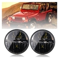 For Hummer H1&H2 Patrol Y60 Jeep Wrangler TJ JK LJ CJ 2D 4D 7inch LED Headlight