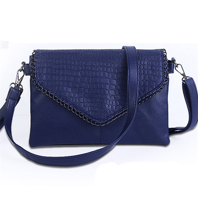 Women bag 2016 New fashion women summer small messenger bag Soft PU leather Black crossbody bag for women clutch evening bag