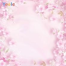 Yeele Cherry Sakura Blossoms Flower Petals Watercolor Baby Newborn Portrait Photo Background Photography Backdrop Studio